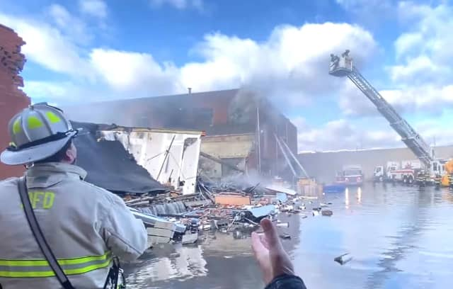 """""""Thank God there's no fatalities, no injuries,"""" Mayor Michael Wildes said. """"Looks like a gas explosion."""""""