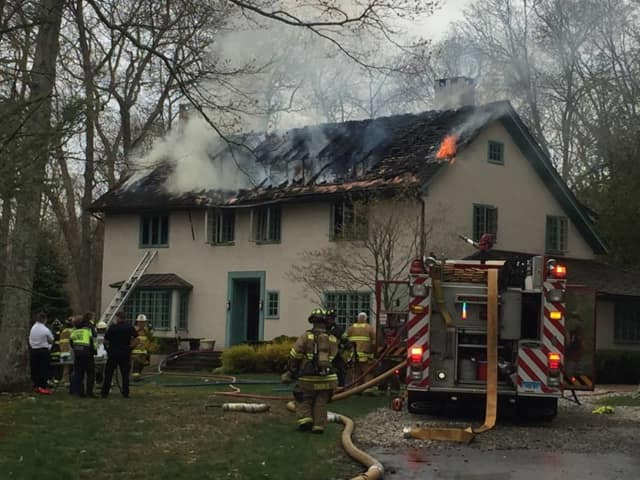 A fire broke out on Old Highway in Wilton Monday.