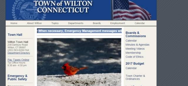 Wilton's town website has been redone.