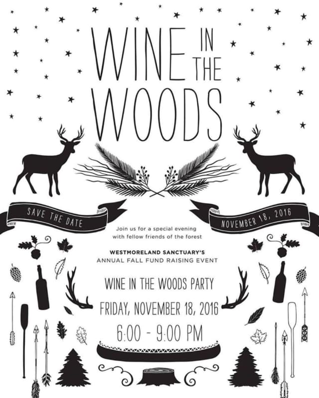 Wine in the Woods, hosted by Westmoreland Sanctuary.