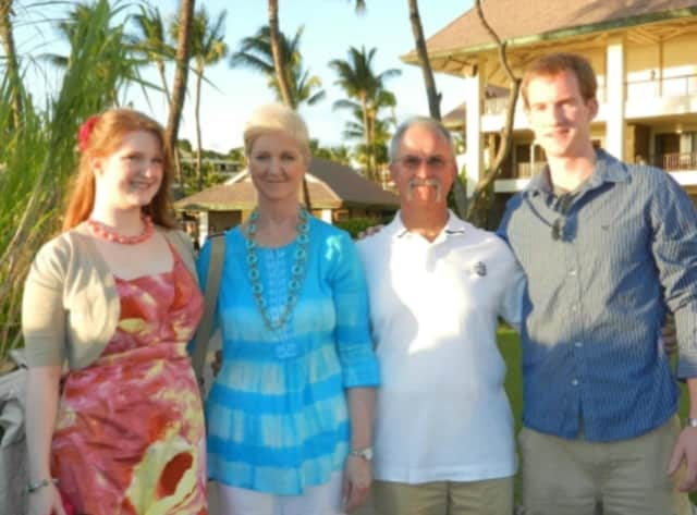 Dennis Wirth and Kristina Ferreira are pictured with their parents Kathleen and Dennis.