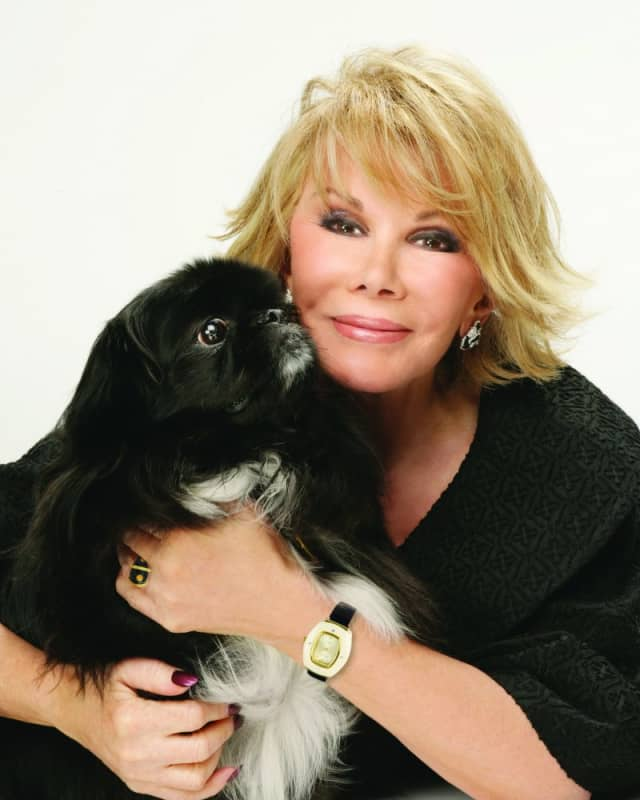 Joan Rivers with the late, lamented Max. Photograph by Charles William Bush.
