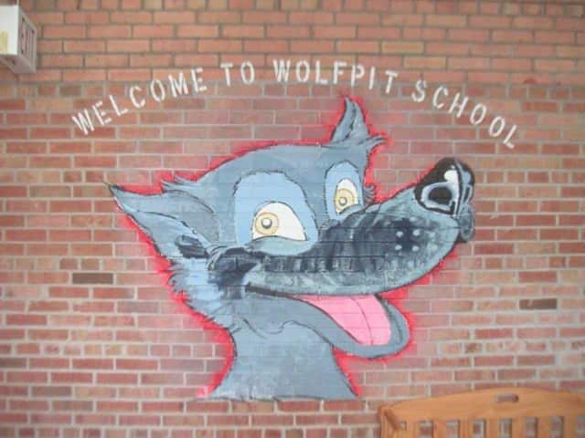 Wolfpit Elementary School students were taken to Norwalk High School for classes Monday