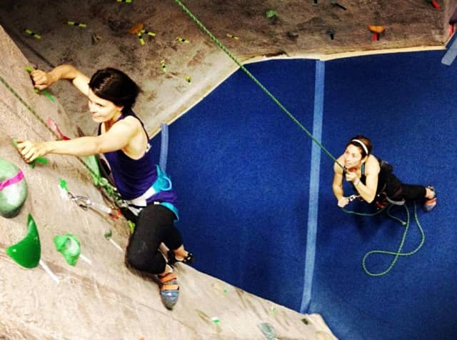 Women can combine fitness and climbing at Upper Saddle River's Gravity Vault.