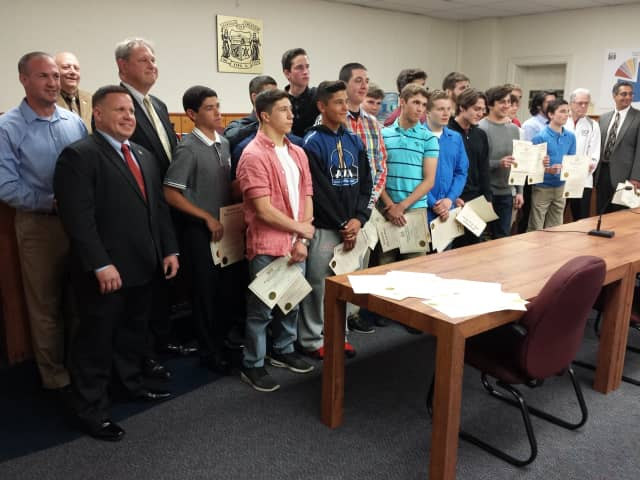 The Emerson Borough Council honored the champs on Tuesday.