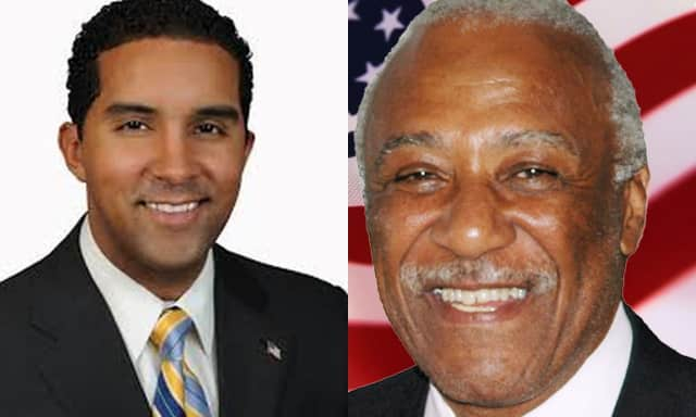 Mount Vernon Mayor Elect Richard Thomas and outgoing Mayor Ernest Davis have exchanged words recently.