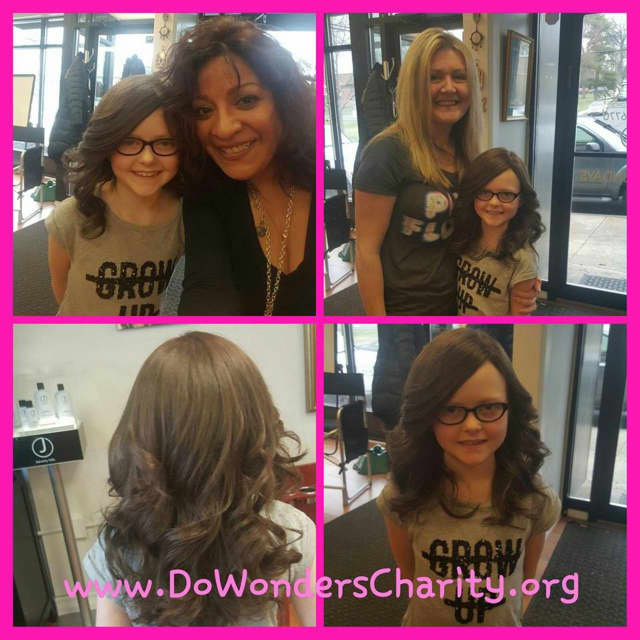 "Do Wonders provides wigs to ladies dealing with cancer. This lass came in, in January. ""They were sad when they came, but all smiles by the time they left. ... THIS is who you are helping by donating to Do Wonders."""