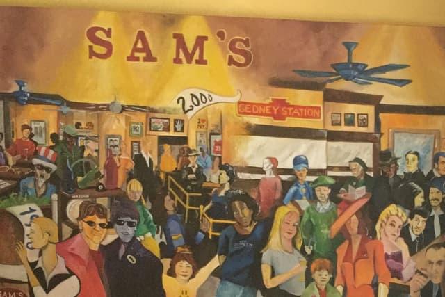 Sam's of Gedney Way mural. Photograph by Jeremy Wayne.