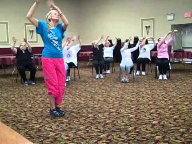 Zumba to Christmas Songs at the Rockland Dance & Fitness Studio in Suffern.