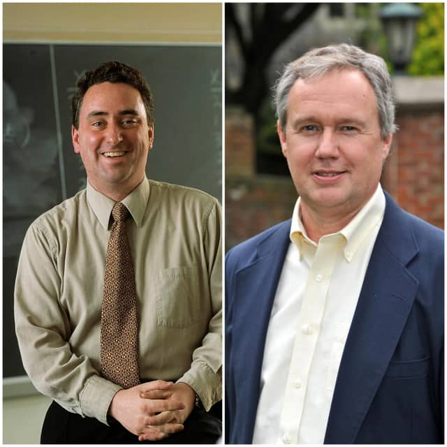 College of New Rochelle Professors Stephen O'Rourke and Daniel McCarthy (right) will discuss the psychology of this year's presidential election.