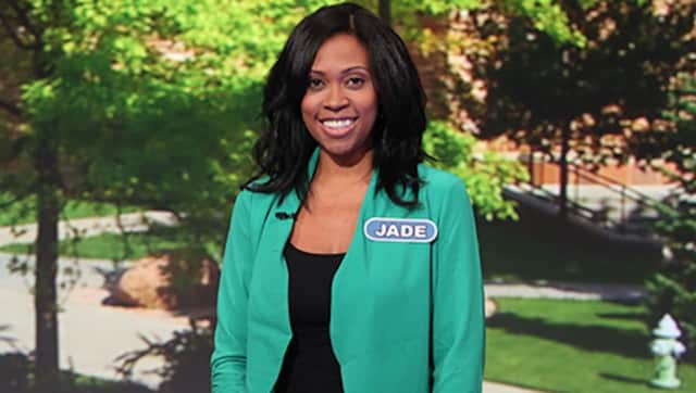 "Yonkers resident Jade Greene-Grant won big on ""Wheel of Fortune,"" in her debut Wednesday."