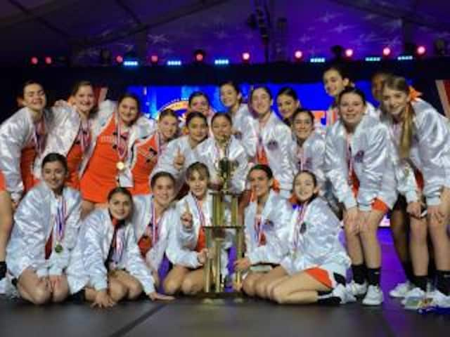 The Tuckahoe Tigers cheerleaders took the top spot in Walt Disney World at the National High School Cheerleading Championship.