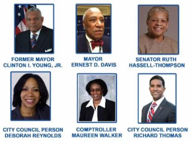 The six candidates seeking to serve as mayor of Mount Vernon for the next several years.