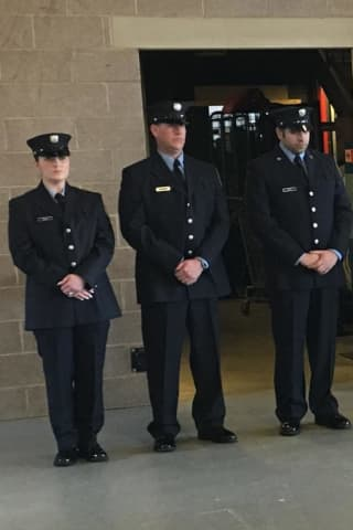 Norwalk Fire Department Swears In New Officers, Promotes Another