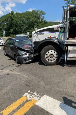 One Hospitalized After Truck, Car Crash In Rockland