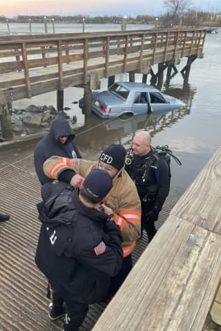 Ridley Driver Rescued From Car That Fell 15 Feet Into Delaware River