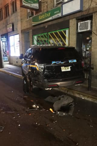 SEE ANYTHING? Hit-Run Pickup Slams Into Fairview Police Car