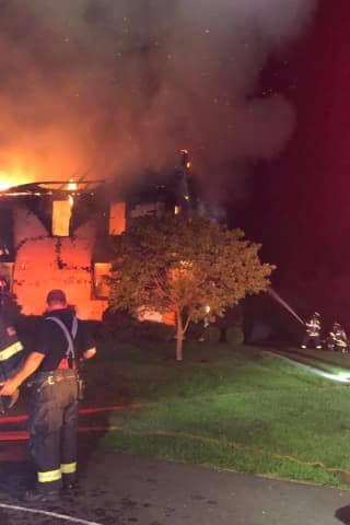 Raging Fire Destroys Greenwich Home