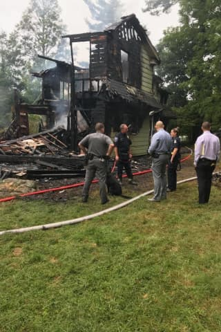 Crews Work For Hours To Battle Blaze That Razed Northern Westchester House