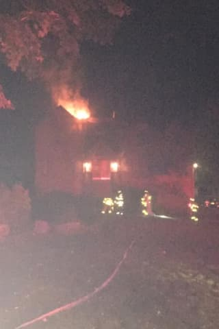 Fire Breaks Out At House Overlooking Hudson River