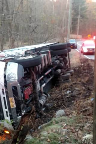 Milk Truck Overturns, Leading To Hourslong Road Closure In Ramapo