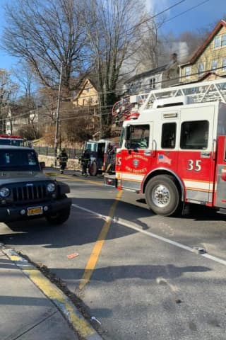 Peekskill Firefighters Battling House Fire