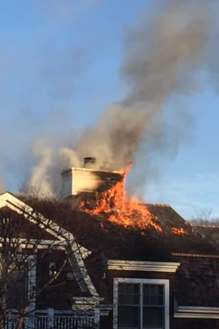 Fire Tears Through Roof Of Northern Westchester Mansion