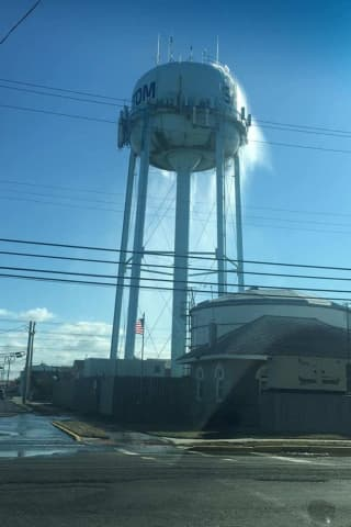How Cold Was It? An LBI Water Tower Sprung A Leak