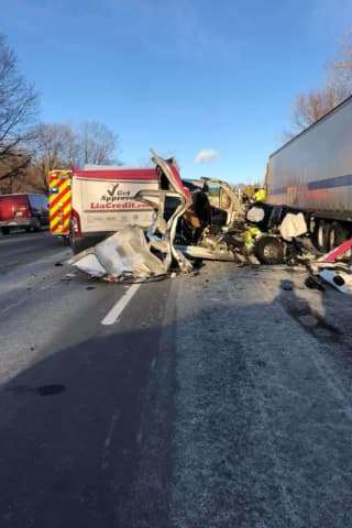 One Extricated In Crash Involving Tractor-Trailer In Purchase
