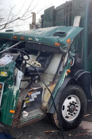 Jaws Of Life Used To Save Truck Driver After Crash Into Pole In Rockland