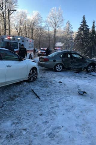 Two Injured In Crash On Spook Rock Road In Suffern