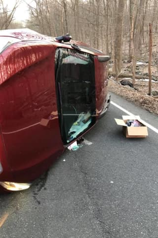 Motorist Rescued After Rollover Crash In Easton