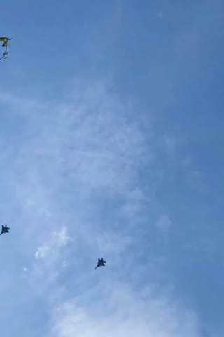 Four Fighter Jets Put On Practice Show Over Fairfield County