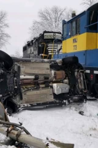 Train Strikes SUV In Area, Teenage Driver Escapes Serious Injury