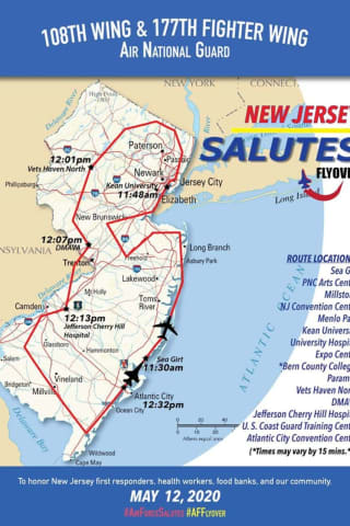 TODAY: Where And When To Watch NJ National Air Guard Flyover