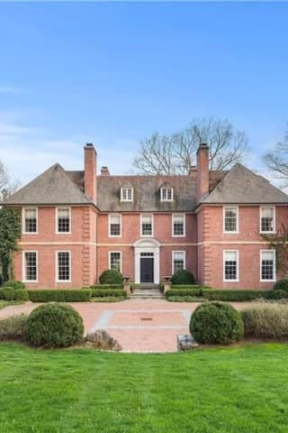 $9.8M Westchester Estate Has Tennis Court, Gym, Pool, Wine Cellar