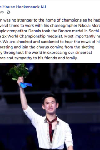 Kazakh Olympic Medalist Denis Ten Stabbed To Death Trained Often At Hackensack Ice House