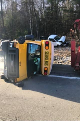 Route 17 Reopens After Crash Involving Overturned School Bus In Sullivan