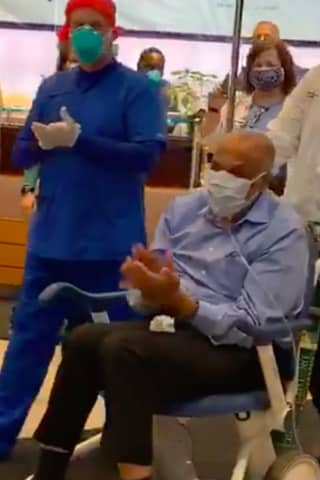 VIDEO: St. Joe's Workers Celebrate Dr. James Pruden's Emotional Hospital Discharge