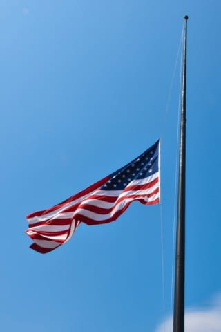 Flags At Half-Mast In Honor Of Local School-Shooting Victims