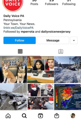 Need More News? Follow Daily Voice Pennsylvania On Instagram