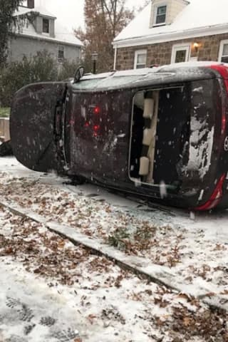 Cresskill Firefighters Free Driver After Snow-Related Crash