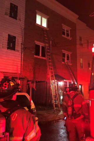Jersey City Firefighters Rescue Woman Trapped In House Fire, 5 Families Displaced