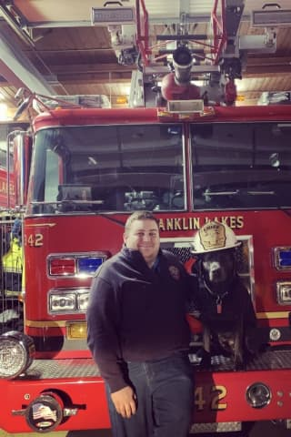 First ResPAWnders: Franklin Lakes Fire Chief's Charcoal Lab Is Firehouse Dog