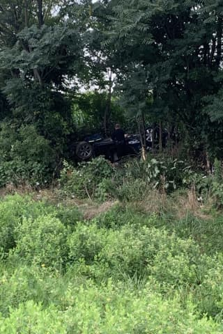 Car Leaves Rt. 222, Drives Into Woods In Lancaster, Slowing Traffic For Hours