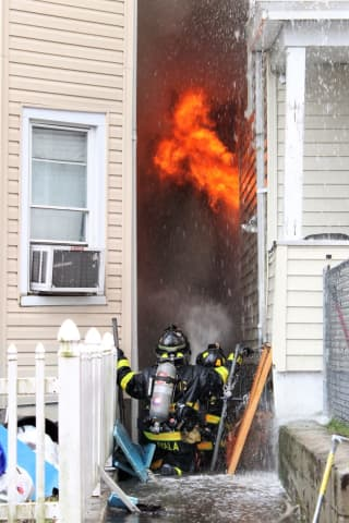 17 People, Three Dogs, Cat Flee Three-Home Passaic Fire