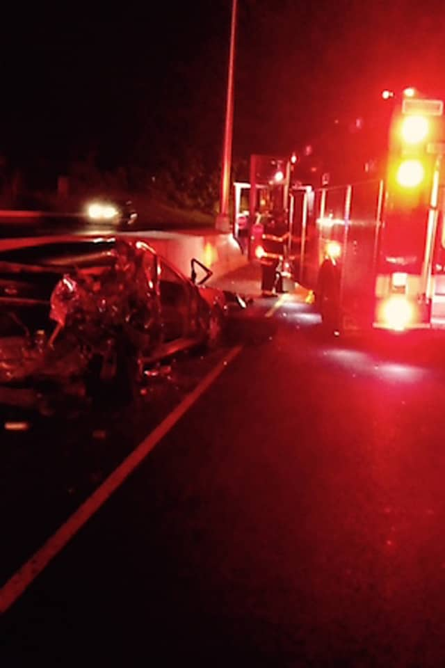 Norwalk Firefighters Free Driver After Accident On I-95 | Norwalk