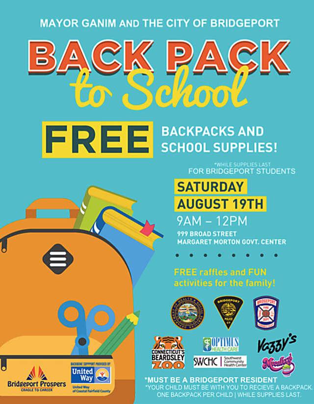 Bridgeport To Distribute Free Backpacks, School Supplies