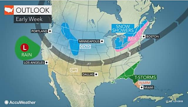 Stormy Sunday, Early Week Warmup Will Be Followed By Sharply