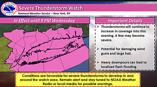 Severe Thunderstorm Watch Now In Effect: Drenching Rain, Damaging